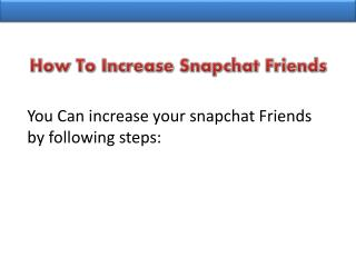 Where to Buy Snapchat Friends?