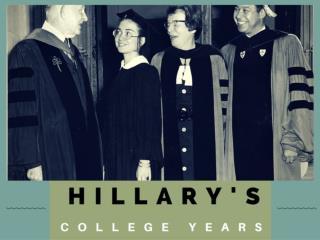 Hillary's college years