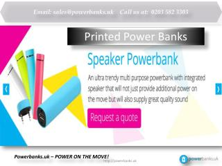 Printed Power Banks, Get top Printed Powerbanks