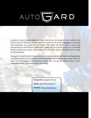 Best Car Repair service in Singapore