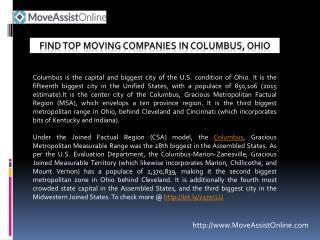 Best Moving Companies in Columbus, Ohio
