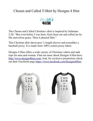 Chosen and Called Christian T-Shirt