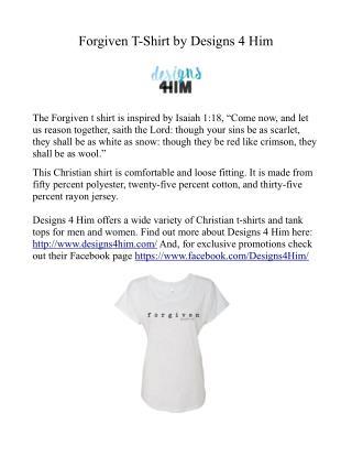 Forgiven Christian T-Shirt Design