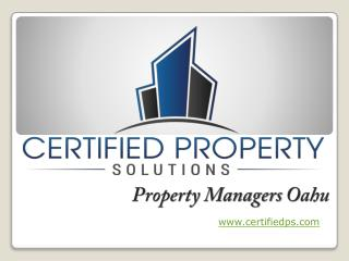 Oahu Property Management Business