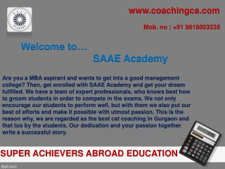 SAAE Academy-  A reliable cat coaching in gurgaon