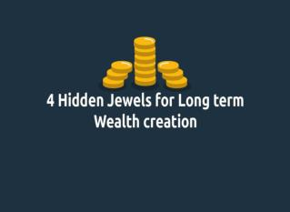 4 HIDDEN JEWELS FOR LONG TERM WEALTH CREATION
