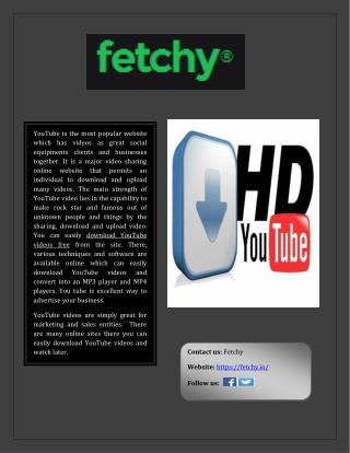YouTube videos free online download