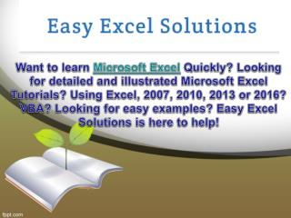 Learn The Excel Basics Online