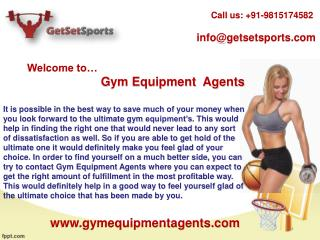 Make good selection for gym equipments manufacturers in India