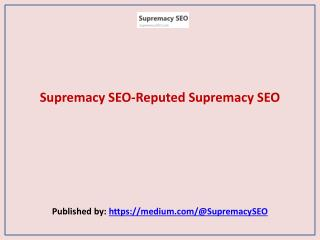 Reputed Supremacy SEO