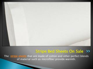 Stripe Bed Sheets On Sale