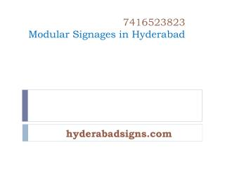 Modular Signages in Hyderabad