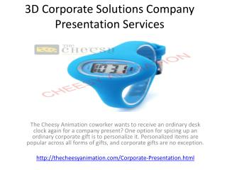 3D Corporate Solutions Company Presentation Services