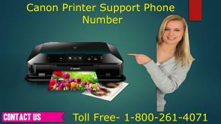 1-800-261-4071 Canon Printer Customer Support Number