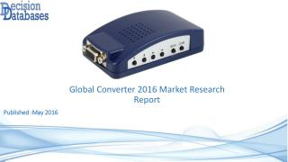 Converter Market Global Analysis and Forecasts 2021