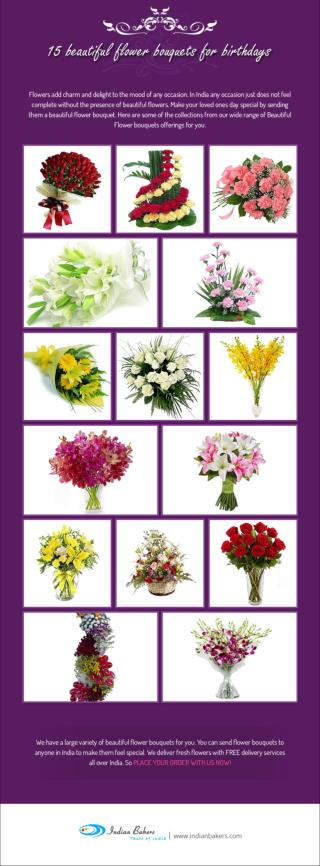 15 Beautiful Flower Bouquet for Birthday / Send Flower Bouquet