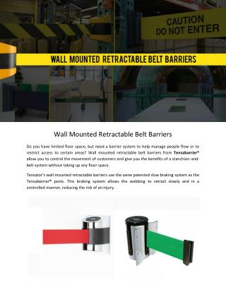 Wall Mounted Retractable Belt Barriers