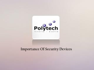 Security Device Manufacturers Singapore
