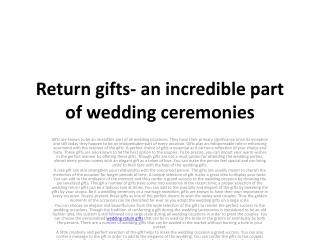 Choose The Right Wedding Gift Online