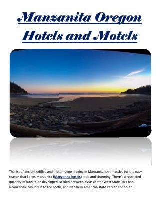 Manzanita Oregon Hotels and Motels