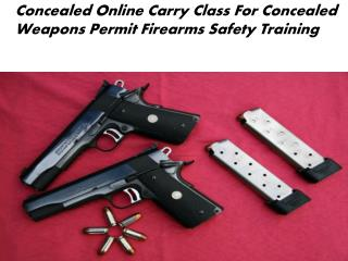 Concealed online carry class for concealed weapons permit firearms safety training