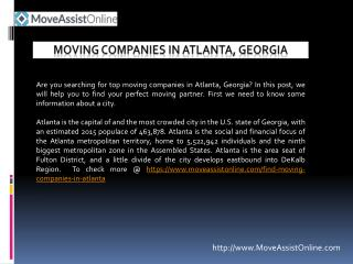 Best Moving Companies in Atlanta, Georgia
