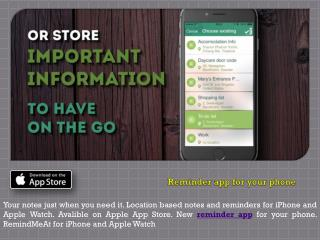 New Reminder App for Your Phone