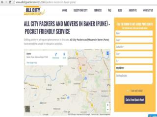 Packers and Movers in Baner(Pune) - All City Packers and Movers®