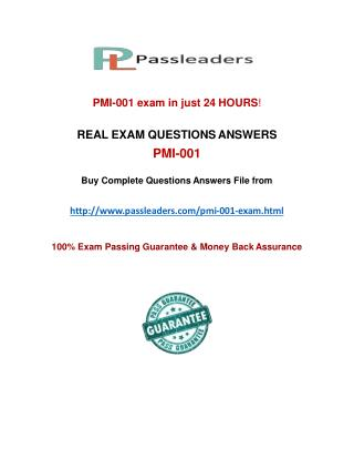 Passleader PMI-001 Q&A