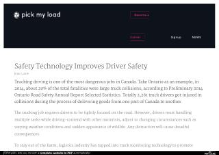 Safety Technology Improves Driver Safety