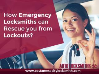 How emergency car locksmith Costa Mesa can rescue you from lockouts?