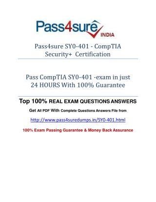 Pass4sure SY0-401 Practice Test