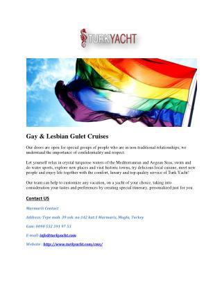 Gay & Lesbian Gulet Cruises