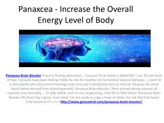 Panaxcea - Eradicate the mental fatique