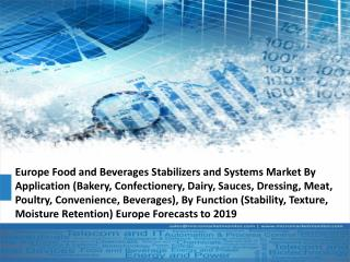 Europe Food and Beverages Stabilizers and Systems Market Research Report