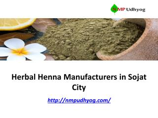 Herbal Henna Manufacturers in Sojat City.pdf
