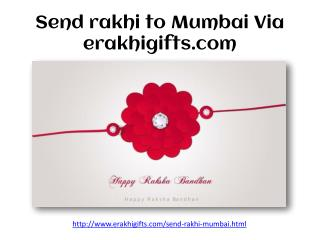 Send rakhi to Mumbai Via erakhigifts.com