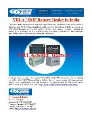 VRLA/SMF Battery Dealer in India
