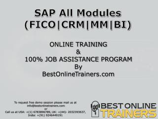 SAP Online Training