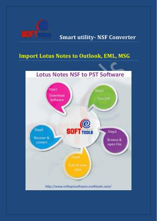 Lotus Notes converter to Outlook utility gives safe conversion NSF to PST file