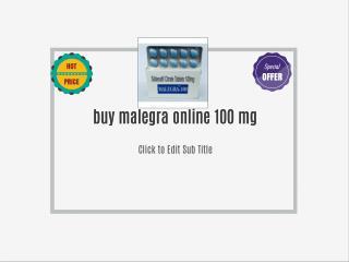 Buy Malegra 100mg Online | Buy At SafeGenericPharmacy.com | Safe Generic Pharmacy