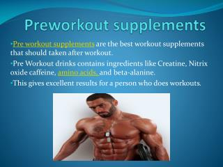 PreWorkout Supplements