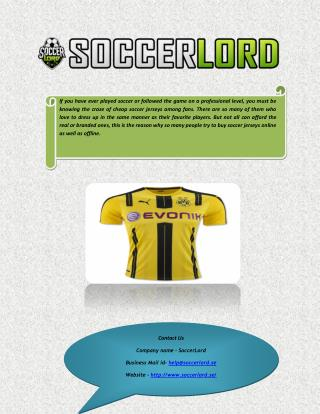 Buy Cheap Football and Soccer Jerseys Online