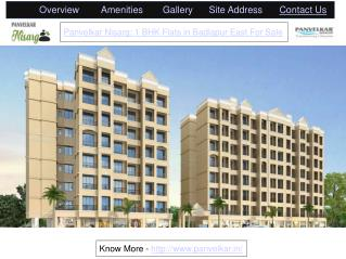 Panvelkar Nisarg: 1 BHK Flats in Badlapur East For Sale