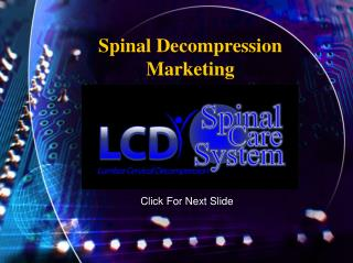 Spinal Decompression Marketing