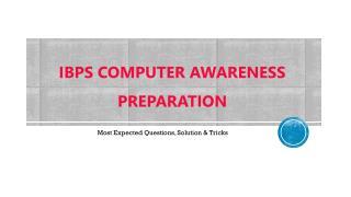 IBPS Computer Awareness Questions