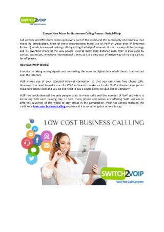 Low Coast Business Calling France