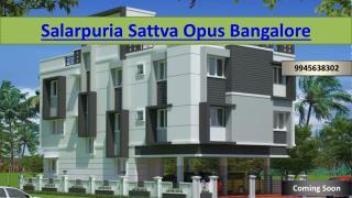 Salarpuria Sattva Opus Bangalore