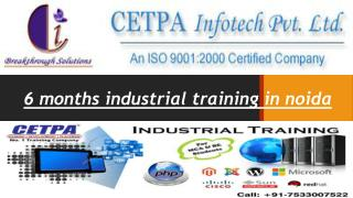 six months industrial training in noida