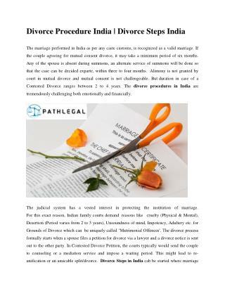 Divorce procedure India | Divorce Steps India